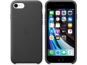 Apple Leather Case iPhone 7/8/SE (2020) Black