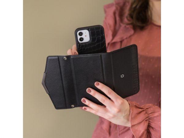 mobilize 2in1 elegant magnet clutch iphone 12 pro max black croco