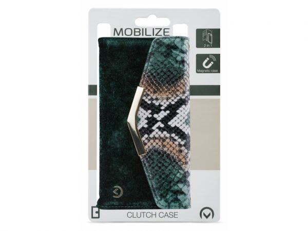 mobilize 2in1 gelly velvet clutch iphone 12 mini green snake