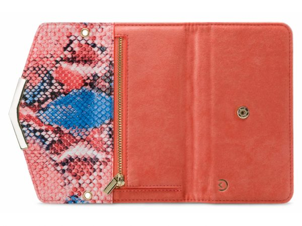 mobilize 2in1 gelly velvet clutch iphone xr coral snake