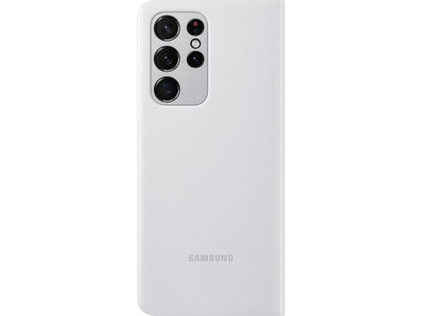 samsung clear view cover galaxy s21 ultra light grey